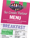 Ice Cream Parlour Menu
